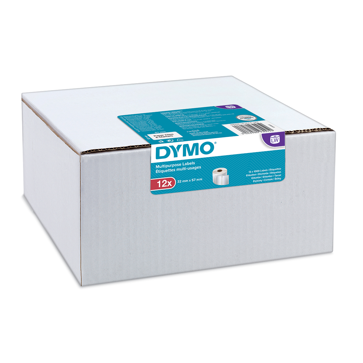 Dymo 2093095 LW Multipurpose Labels 32 x 57mm 12 pack