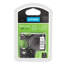 Dymo 16958 19mm x 3.5m Black on White Tape
