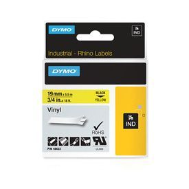Dymo 18433 19mm Yellow Vinyl Tape - S0718470