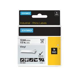 Dymo 18444 12mm White Vinyl Tape - S0718600