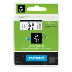 Dymo 45803 19mm x 7m Black on White Tape