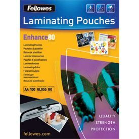 Fellowes 5306114 A4 80Mic Pouch 100pk