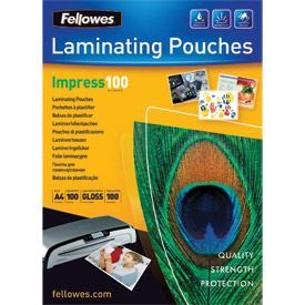 Fellowes 53511 A4 100Mic Pouch 100pk
