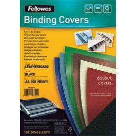 Fellowes 5370402 A4 Leatherboard Covers