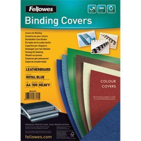 Fellowes 5371305 A4 Leatherboard Covers