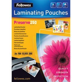 Fellowes 5401802 A4 250Mic Pouch 100pk