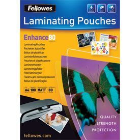Fellowes 5452103 A4 80Mic Pouch 100pk