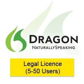 Nuance Dragon NaturallySpeaking 12.5 Legal Licence 5-50 Users
