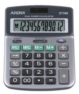 Aurora DT398 Desk Calculator