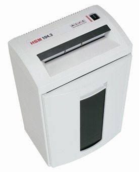 HSM 104.3S 3.9mm Strip Cut Shredder