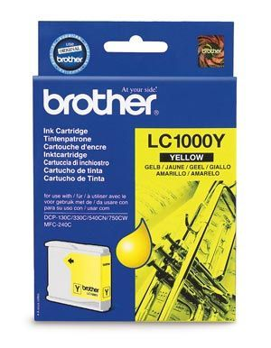 Brother LC1000Y Yellow Cartridge