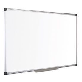 Bi-Office Maya Melamine Aluminium Framed Dry-wipe Board 2400x1200mm