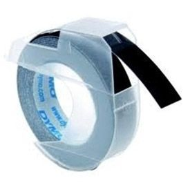 Dymo S0847730 White on Black Embossing Tape Pack of 3