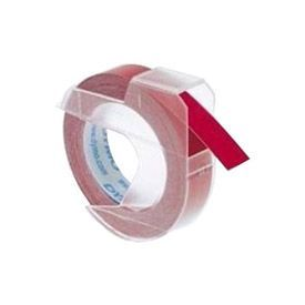 Dymo S0898150 White on Red Embossing Tape