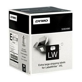 Dymo S0904980 104mm x 159mm XL Shipping Labels Black on White