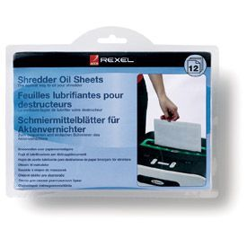 Rexel 2101948 Shredder Lubricant Sheets 12pk