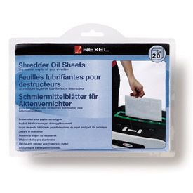 Rexel 2101949 Shredder Lubricant Sheets 20pk