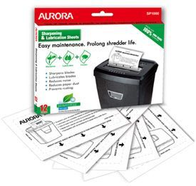 Aurora SP1000 Lubrication and Sharpening Sheets 12PK