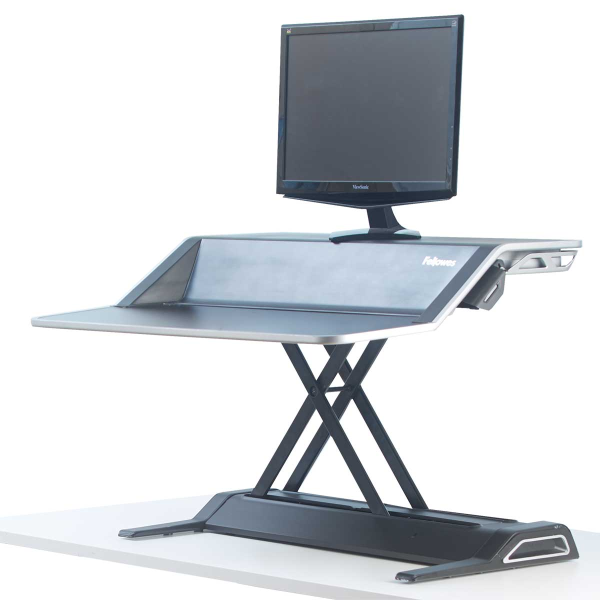 Fellowes 0007901 Lotus Sit Stand Workstation - Black