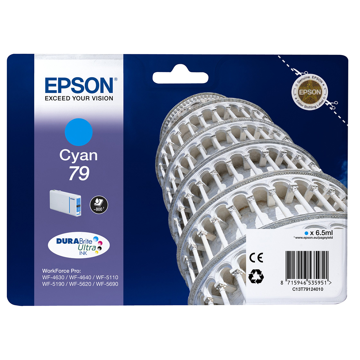Epson 79 Durabrite Ink Cartridge Cyan