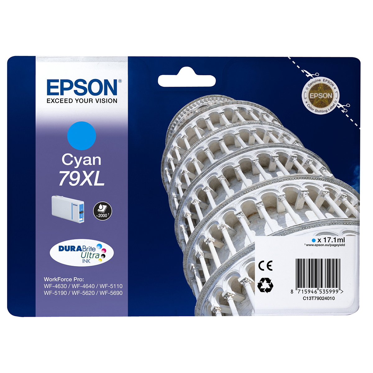 Epson 79XL Ink Cartridge Cyan