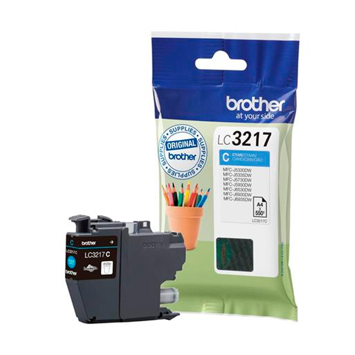 Brother LC3217C Cyan Ink Cartridge