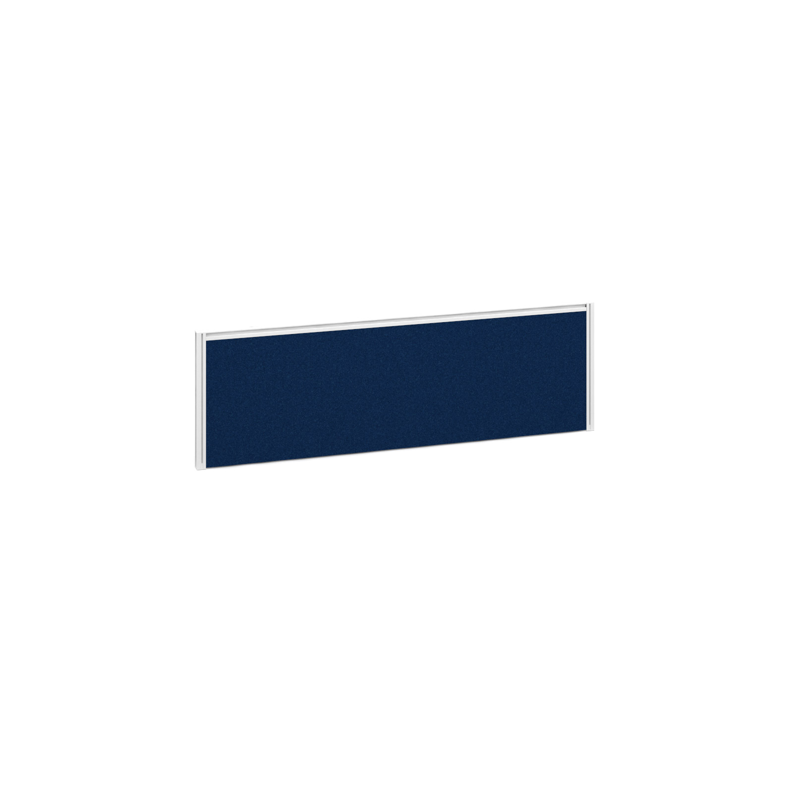 1185mm Deluxe Fabric Return Screen -  White Frame - Blue Fabric
