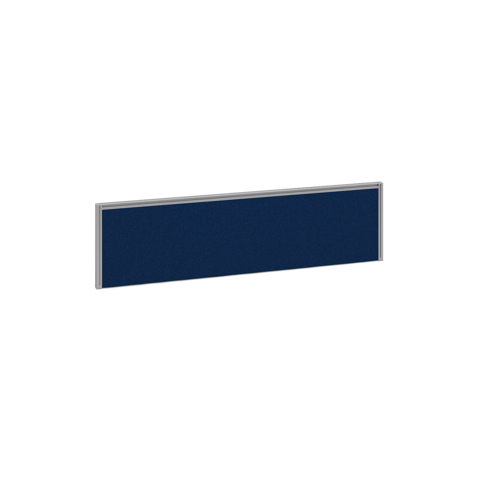 1400mm Deluxe Fabric Rear Screen -  Silver Frame - Blue Fabric