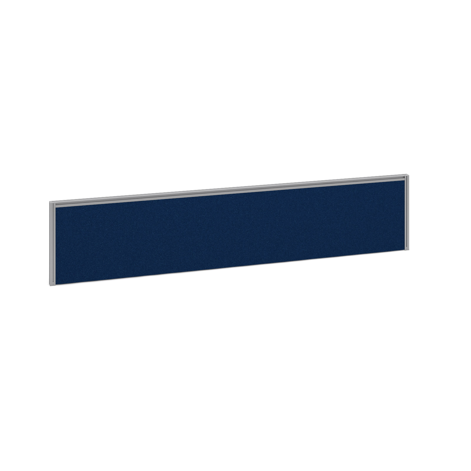 1800mm Deluxe Fabric Rear Screen -  Silver Frame - Blue Fabric