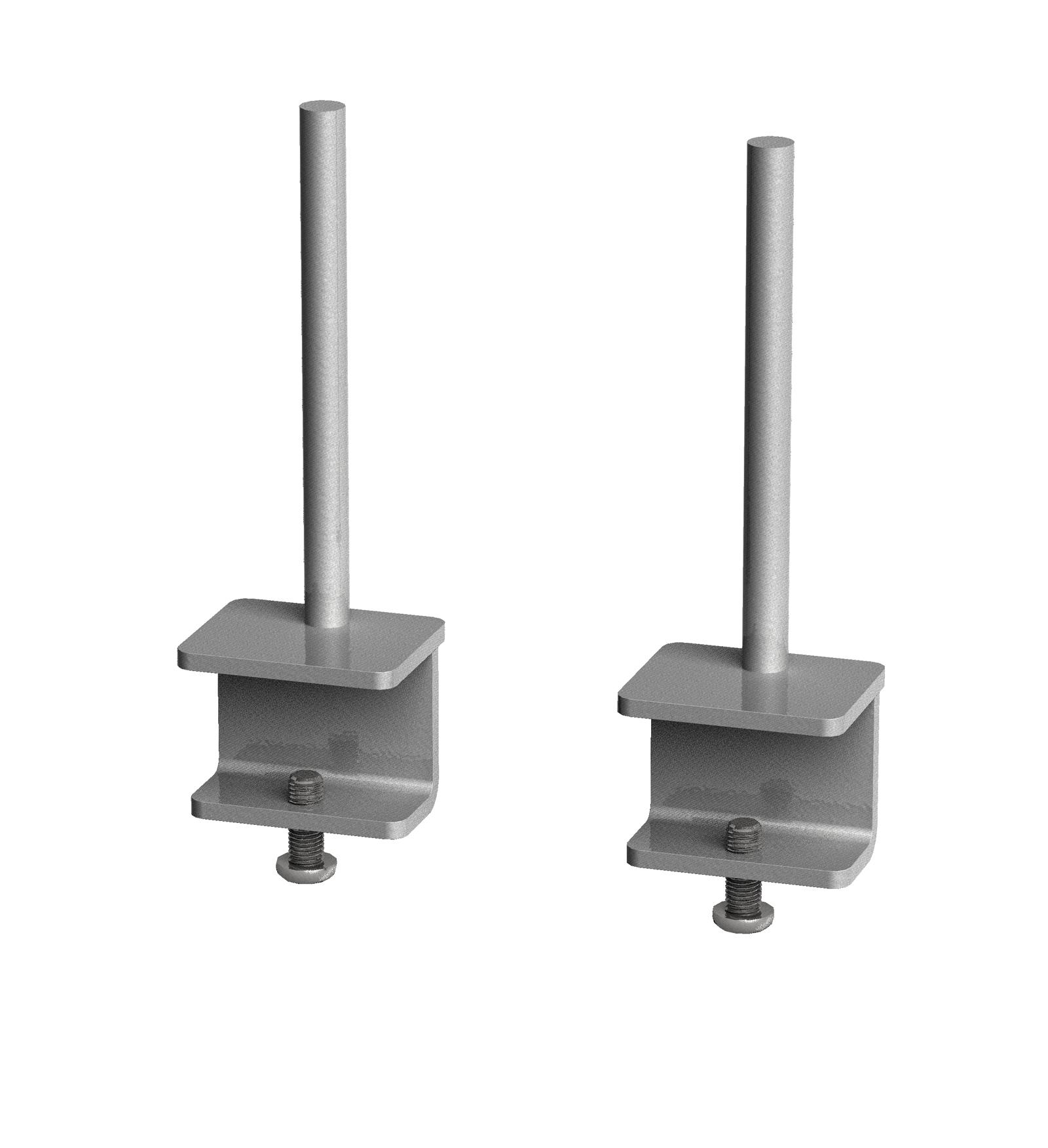 Fabric screen brackets Adapt/Fuze desks