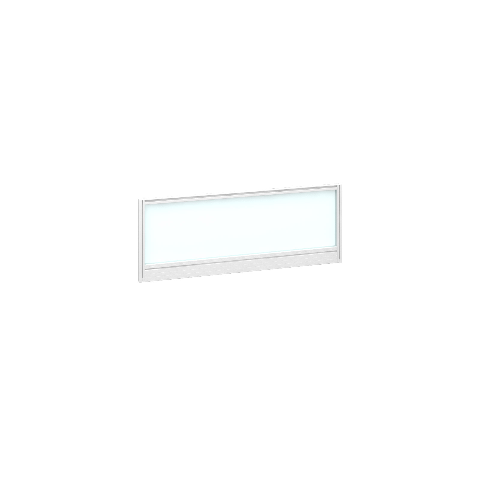 1000mm Deluxe Fully Glazed Rear Screen - White Frame - White Glazing