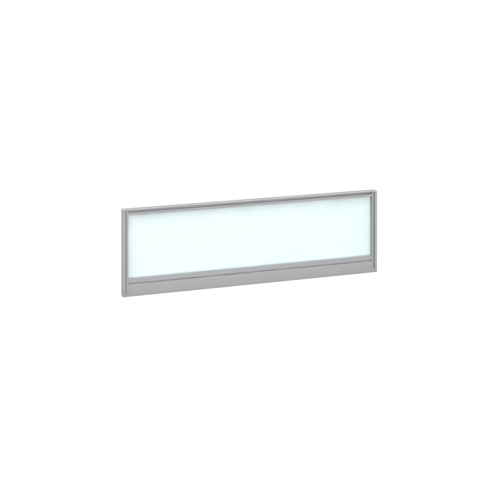 1200mm Deluxe Fully Glazed Rear Screen -  Silver Frame - White Glazing