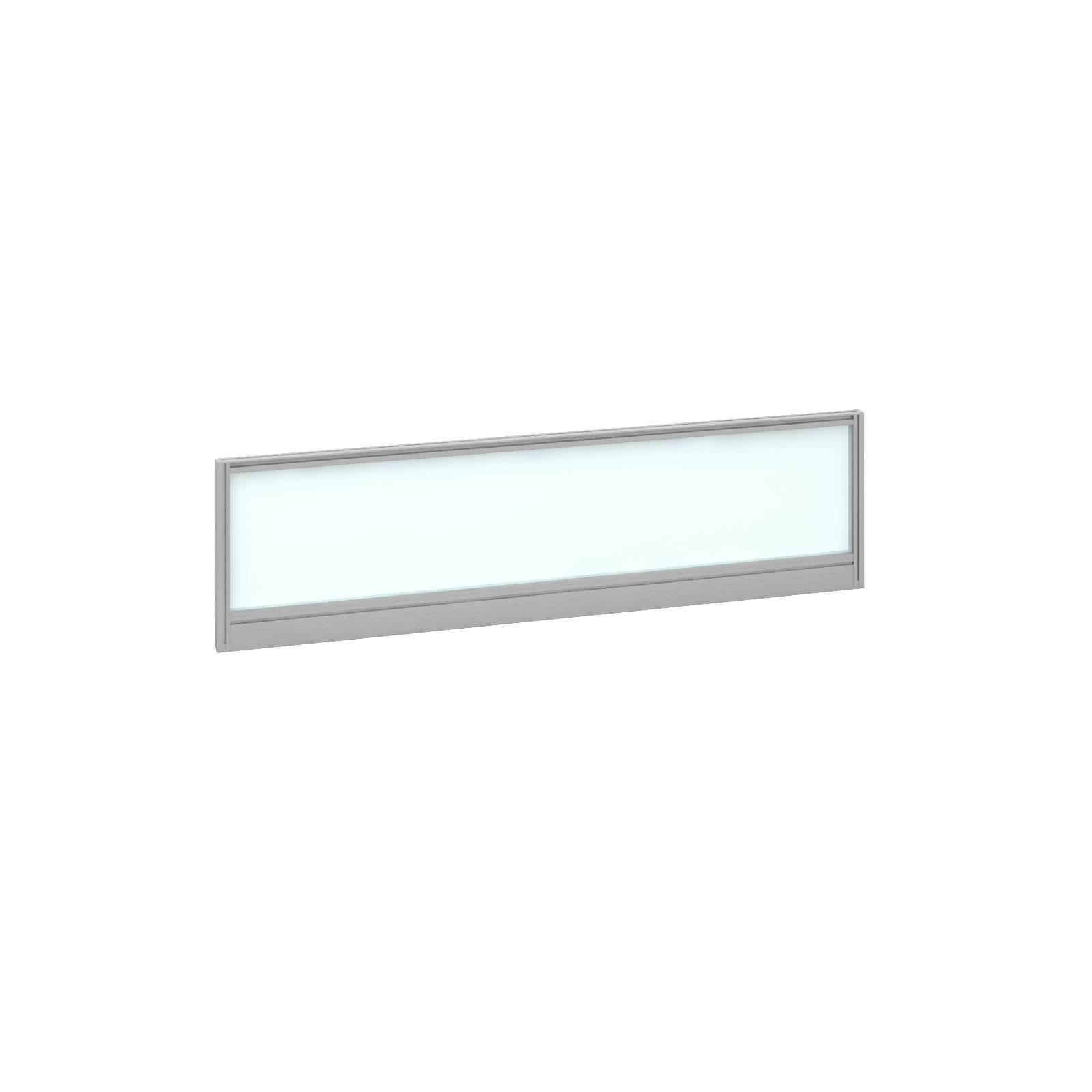 1400mm Deluxe Fully Glazed Rear Screen -  Silver Frame - White Glazing