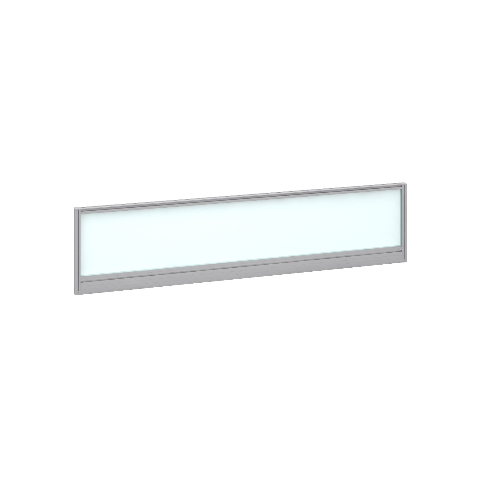1600mm Deluxe Fully Glazed Rear Screen -  Silver Frame - White Glazing
