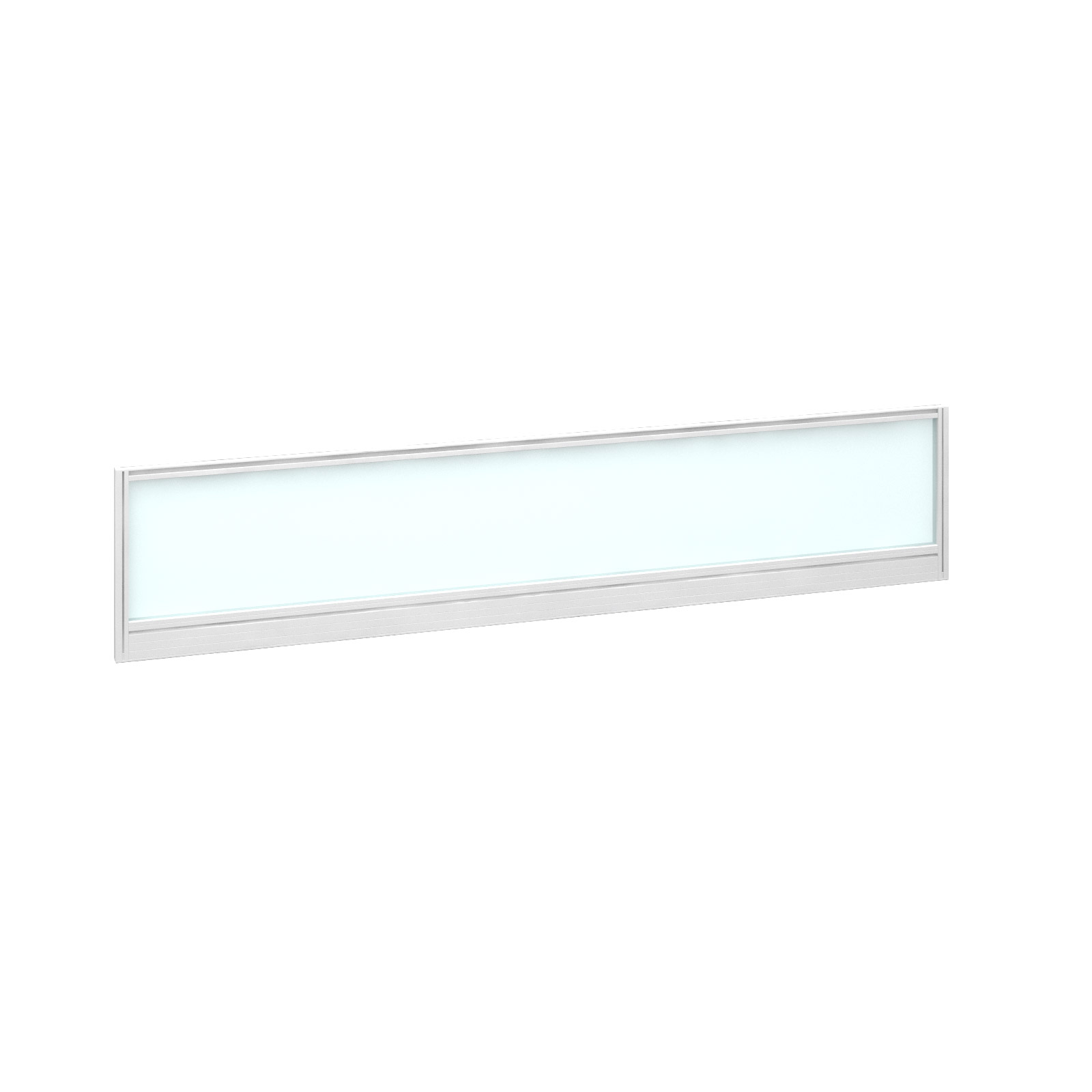 1800mm Deluxe Fully Glazed Rear Screen - White Frame - White Glazing