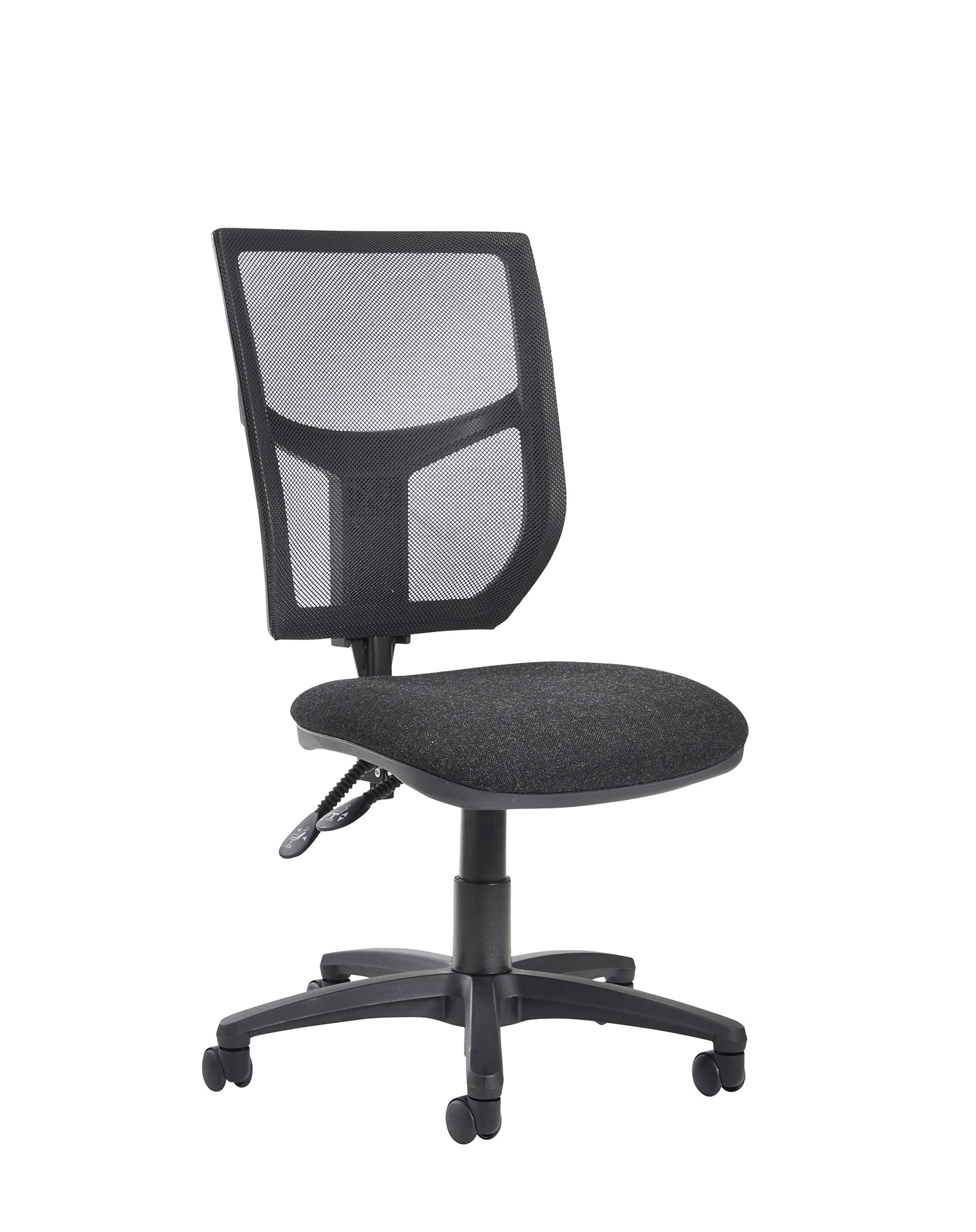 Altino high back operator chair  with no arms charcoal
