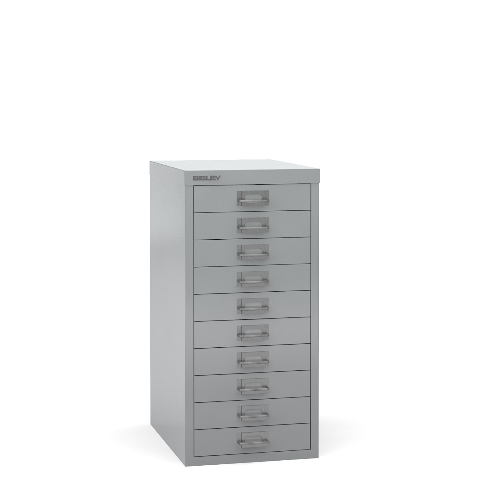 Bisley Multi-drawer, 10 drawer Silver