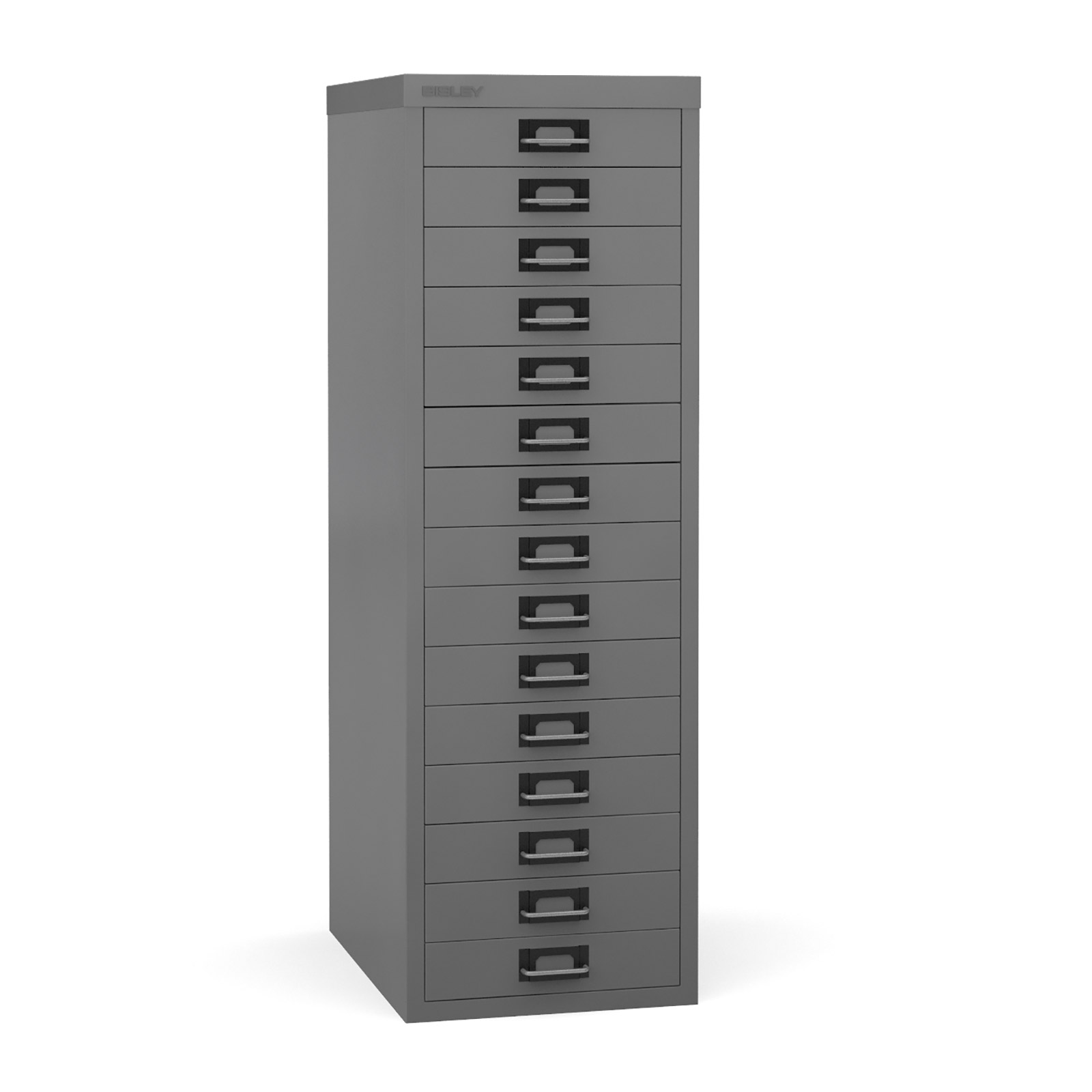 Bisley Multi-drawer, 15 drawer Grey