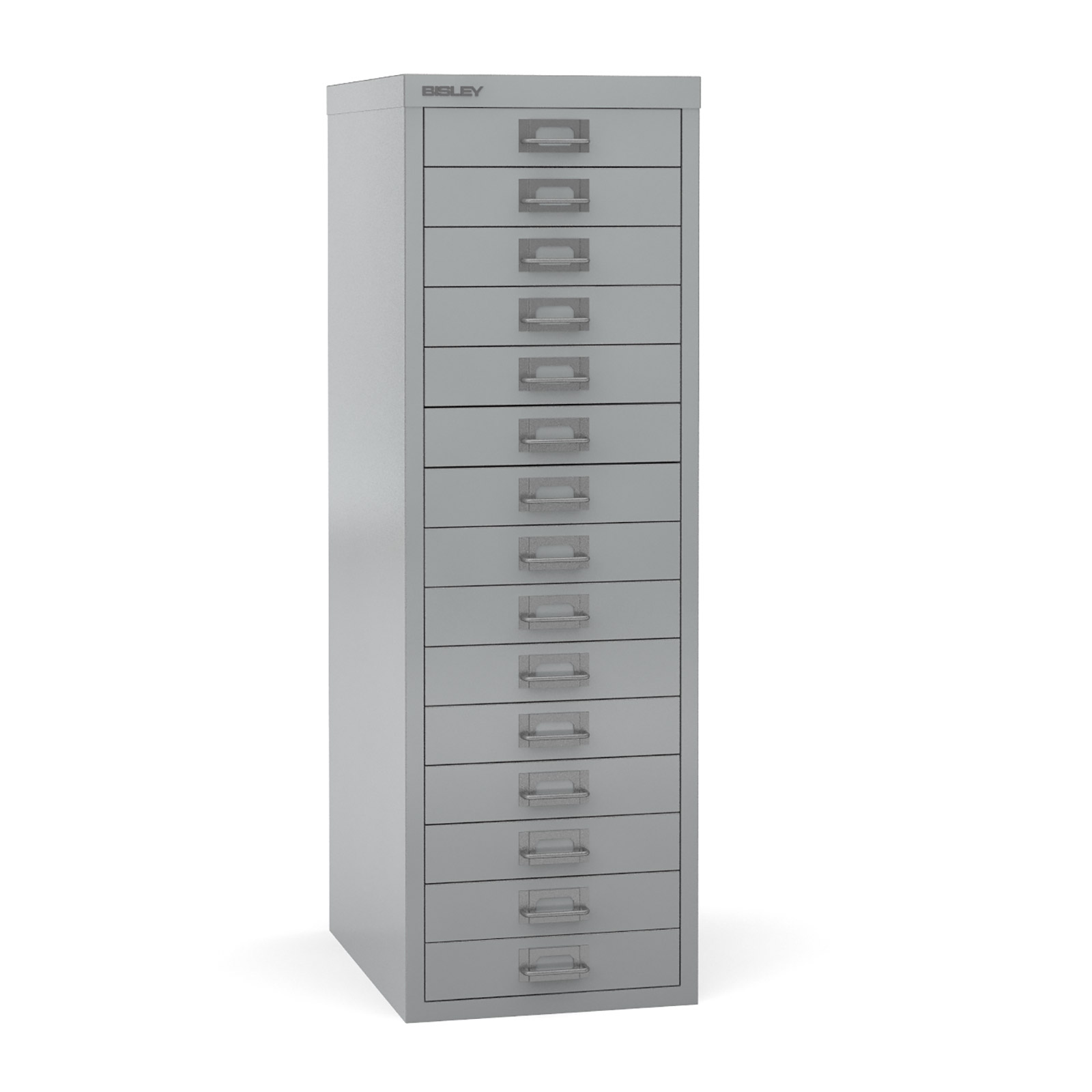 Bisley Multi-drawer, 15 drawer Silver