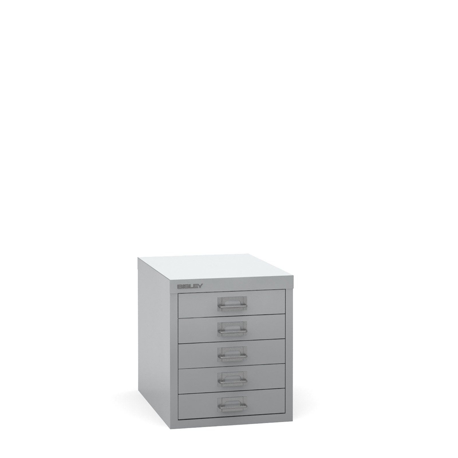 Bisley Multi-drawer, 5 drawer Silver