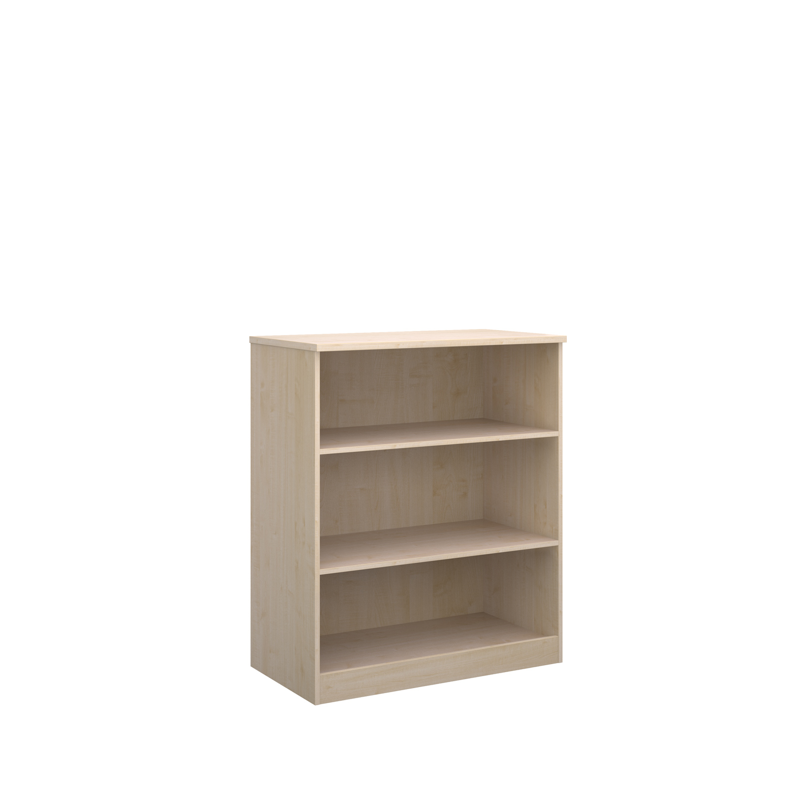 Deluxe bookcase 1200mm high in maple