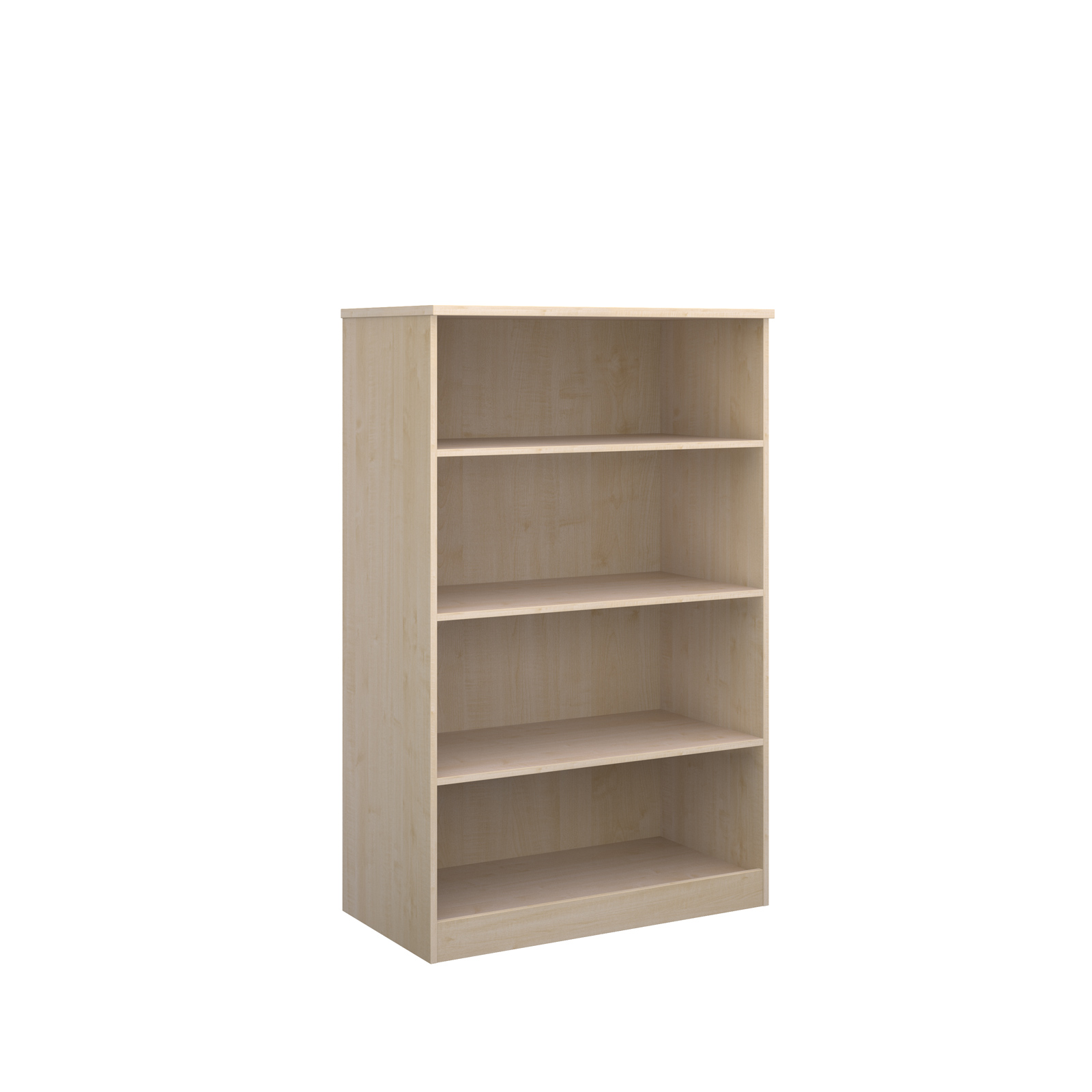Deluxe bookcase 1600mm high in maple