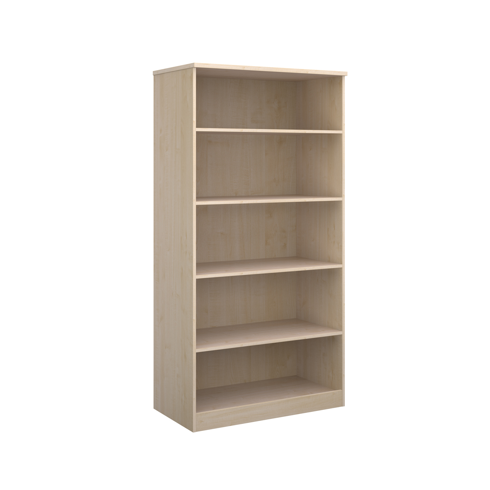 Deluxe bookcase 2000mm high in maple