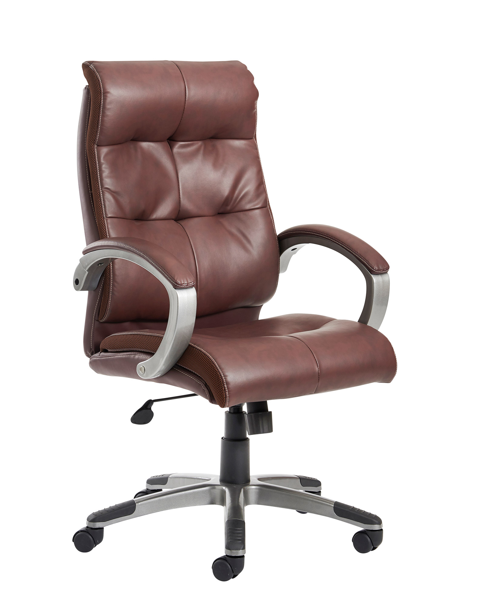 Cantania managers chair in brown leather faced