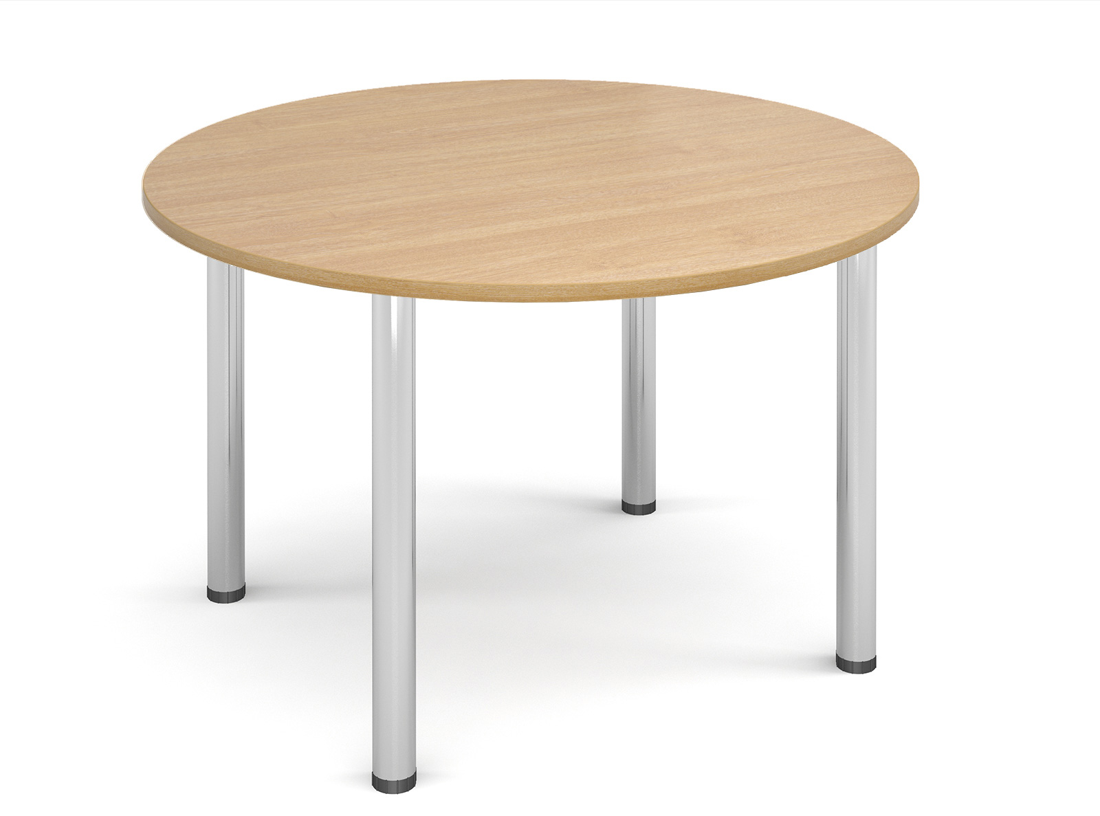 1000mm diameter Top + Chrome radial Legs - Oak