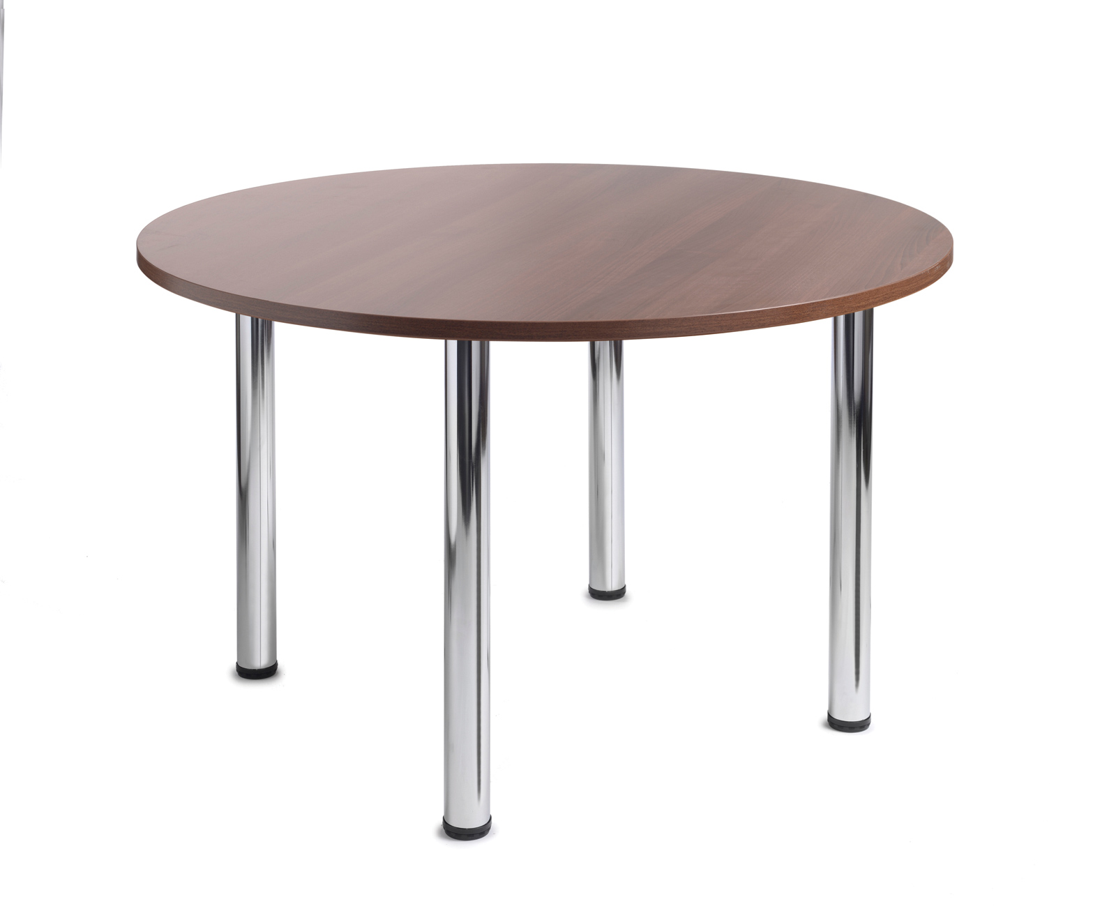 1000mm diameter Top + Chrome radial Legs - Walnut
