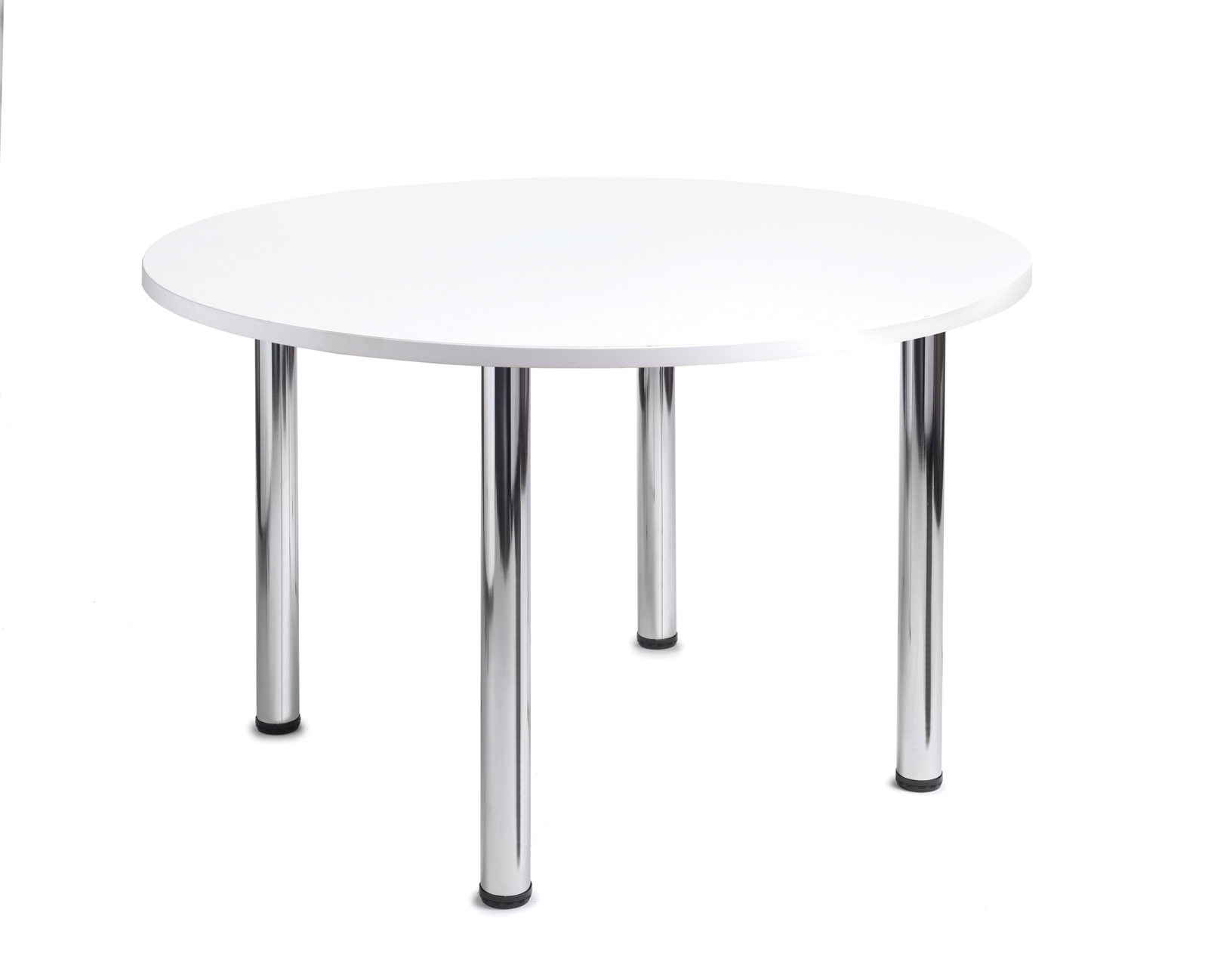 1000mm diameter Top + Chrome radial Legs - White