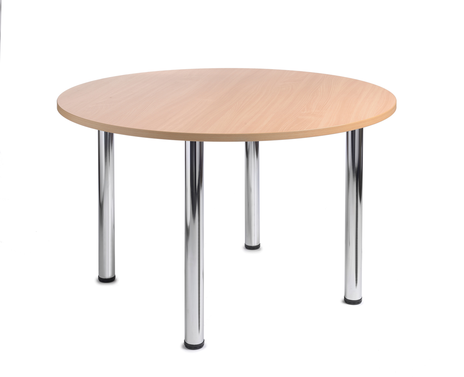 1200mm diameter Top + Chrome radial Legs - Beech