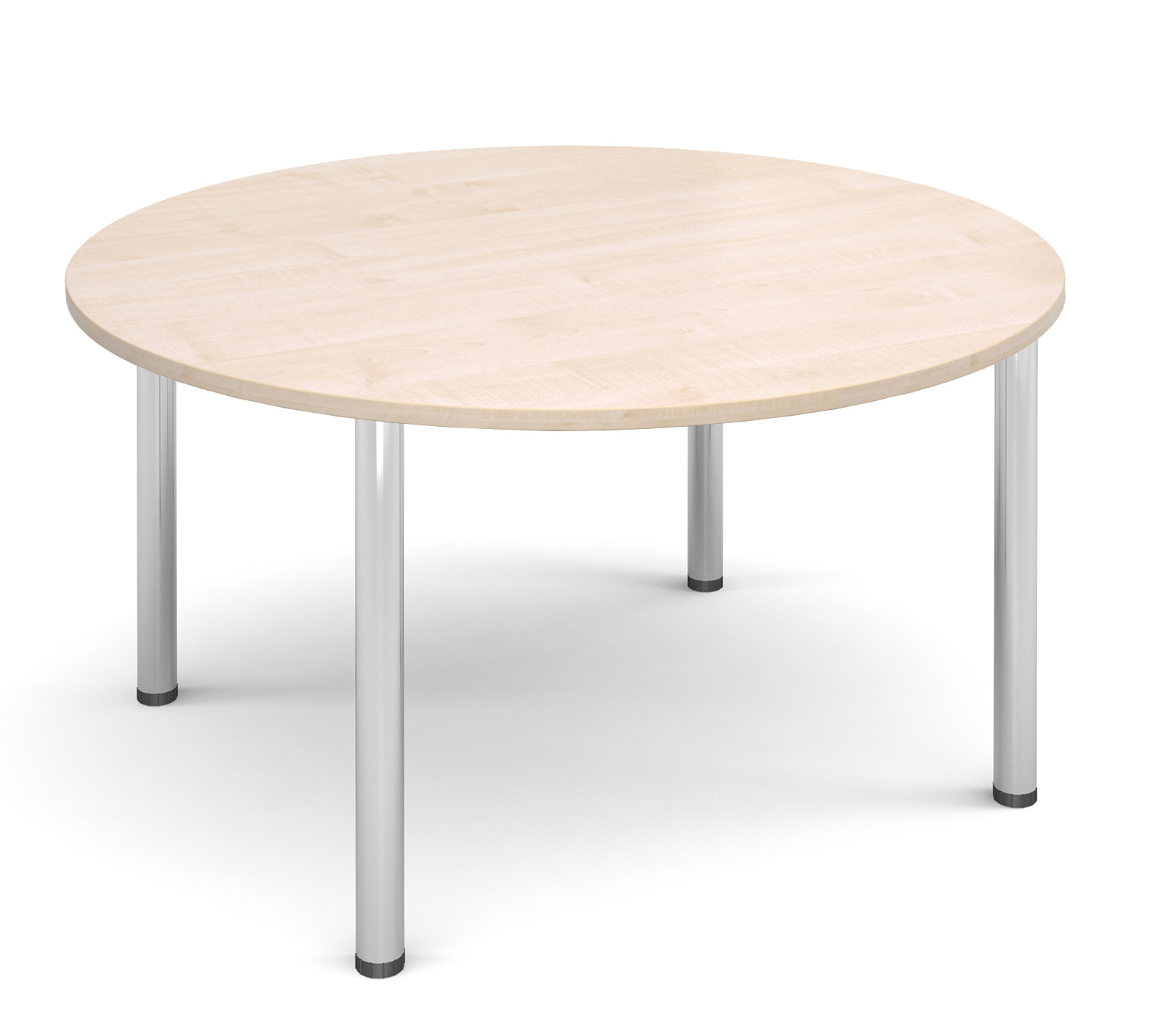 1200mm diameter Top + Chrome radial Legs - Maple
