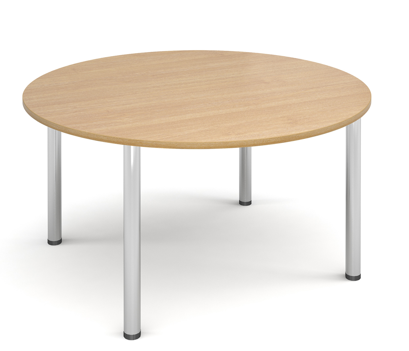 1200mm diameter Top + Chrome radial Legs - Oak